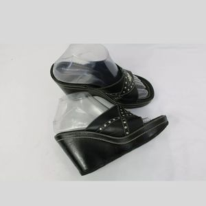 Harley Davidson Black Leather 6.5 M Mandi Platform